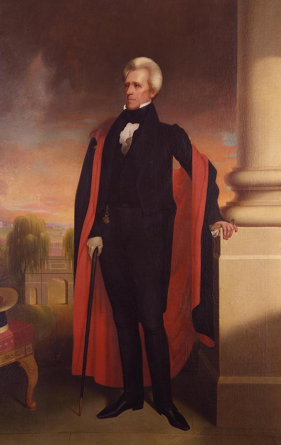 Andrew Jackson Standing Painting
