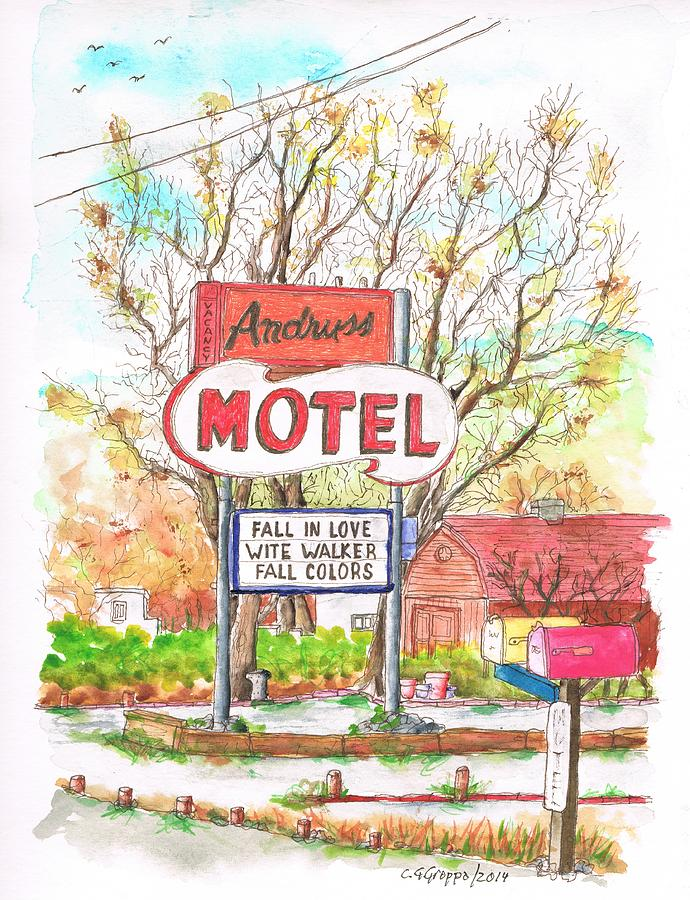 Andruss Motel In Route 66 - Walker -california Painting