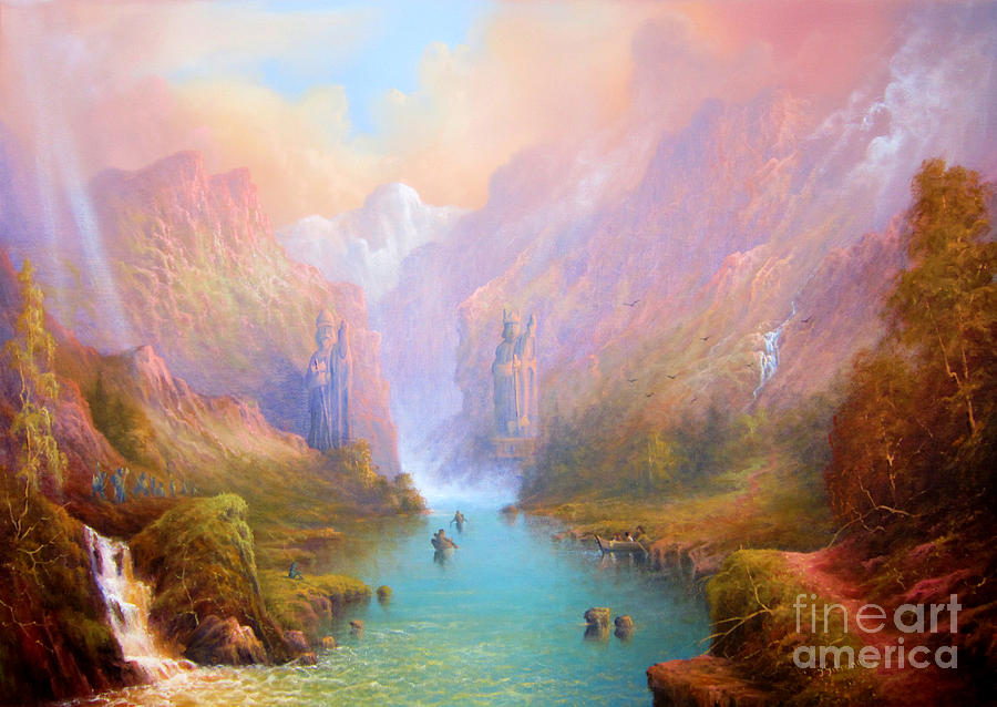 Anduin The Great River Painting  - Anduin The Great River Fine Art Print