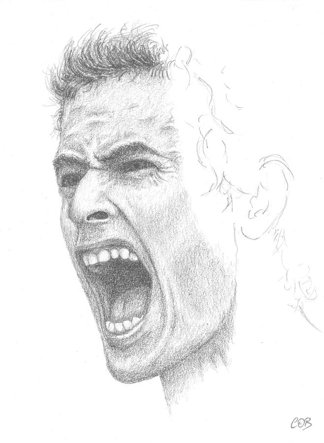 Andy Murray Sketch Drawing  - Andy Murray Sketch Fine Art Print
