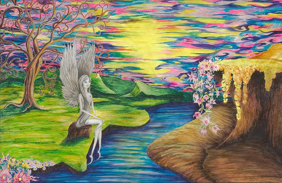 Fairy Mixed Media - Angel Fairy by Yolanda Raker