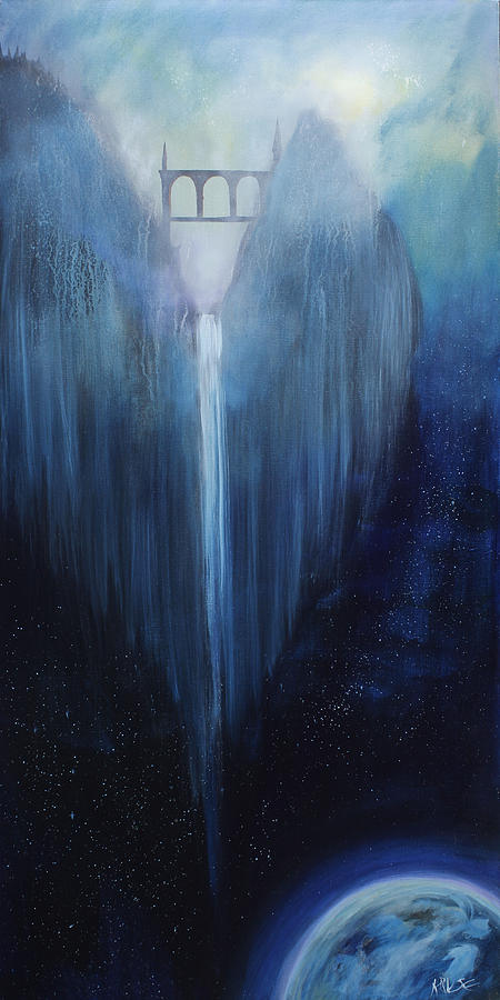 Angel Falls Painting  - Angel Falls Fine Art Print