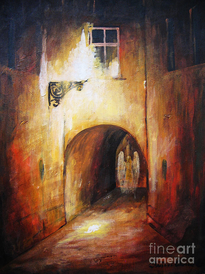 Angel In The Alley Painting