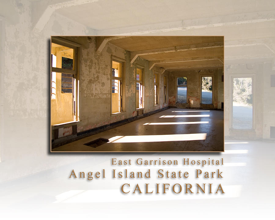 Angel Island State Park California - East Garrison Hospital - Hk Photograph  - Angel Island State Park California - East Garrison Hospital - Hk Fine Art Print