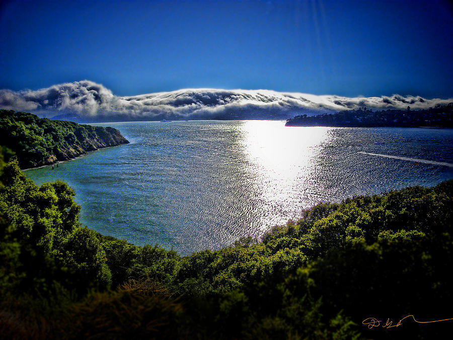 Angel Island State Park California - San Francisco Bay - Marin Headlands Fog - Hdr Photograph  - Angel Island State Park California - San Francisco Bay - Marin Headlands Fog - Hdr Fine Art Print