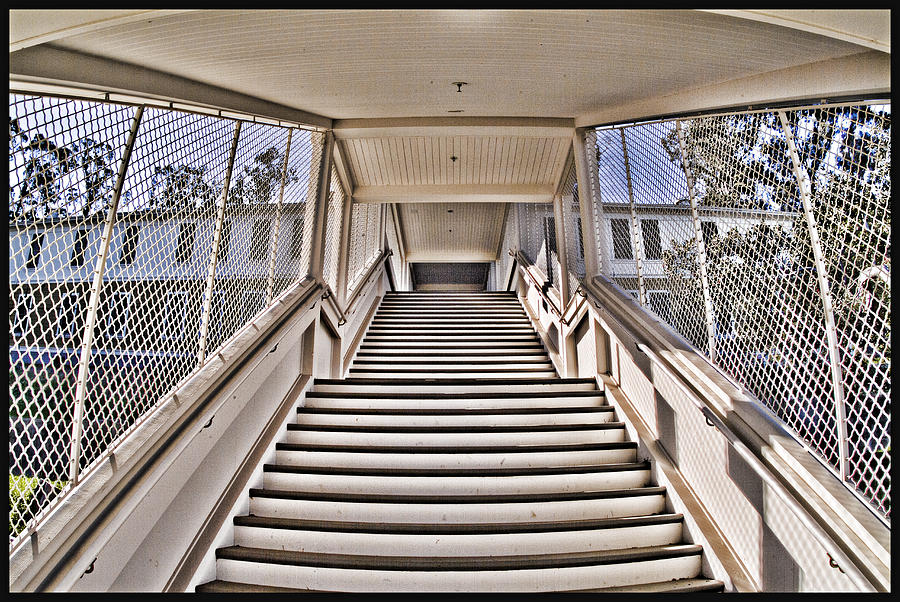 Angel Island State Park California - Stairs To Detention At Usis United States Immigration Station Photograph  - Angel Island State Park California - Stairs To Detention At Usis United States Immigration Station Fine Art Print