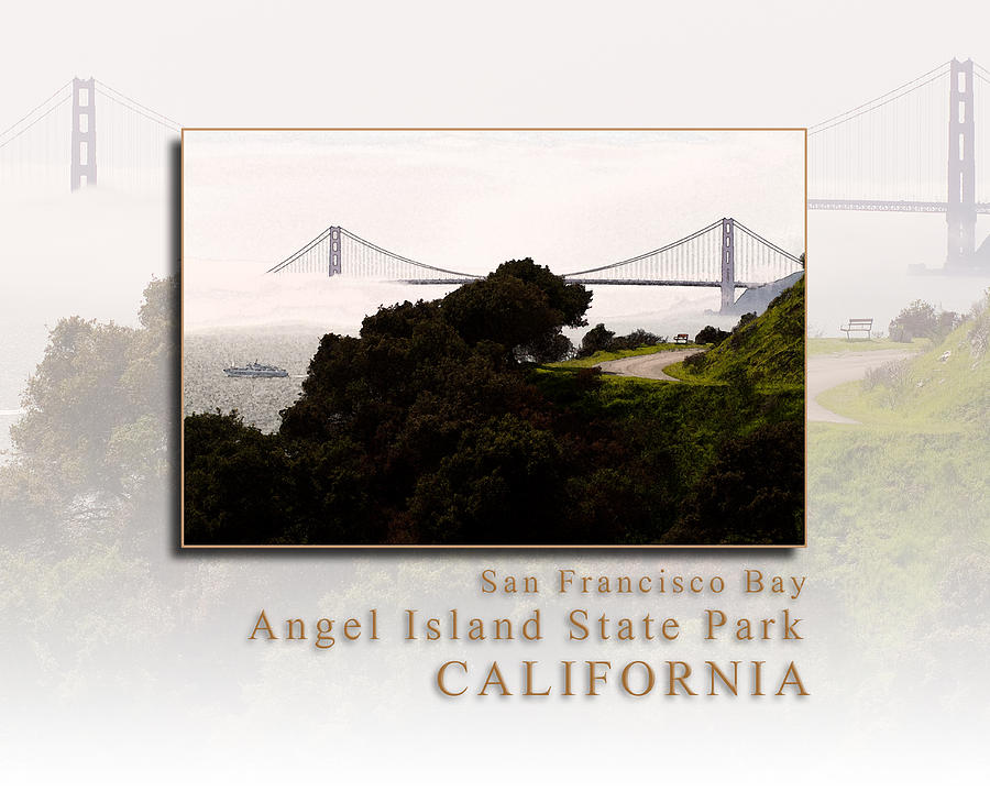 Angel Island State Park - San Francisco Bay California Perimeter Road Hk Photograph  - Angel Island State Park - San Francisco Bay California Perimeter Road Hk Fine Art Print