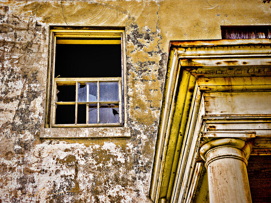 Angel Island - The Window On Officers Row Housing - San Francisco Bay California - Hdr Photograph