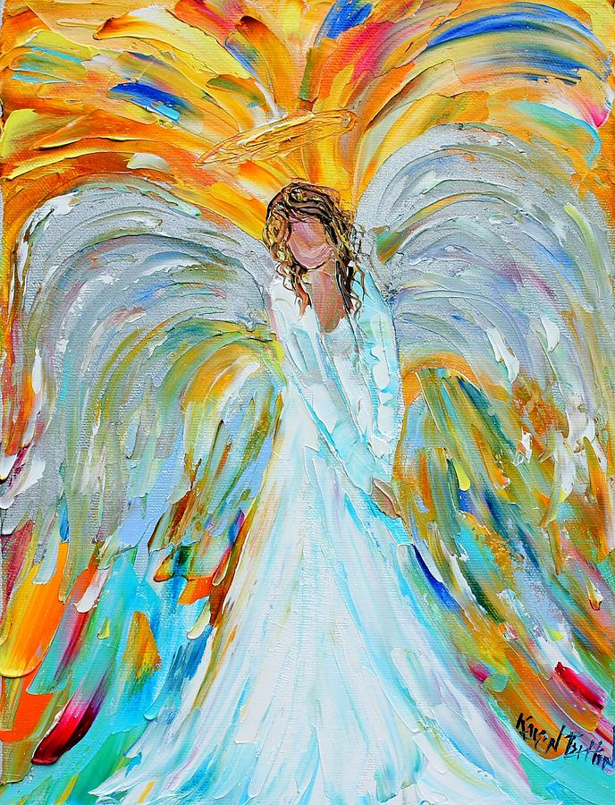 Angel by karen tarlton angel painting angel fine art for Angel paintings for sale