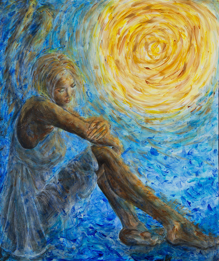 Angel Moon II Painting  - Angel Moon II Fine Art Print