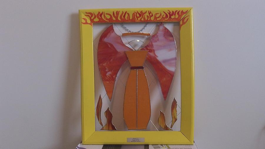 Angel Of Fire Glass Art