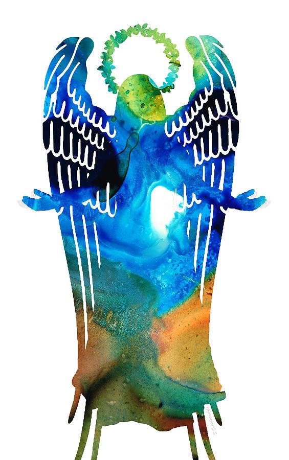 Angel Painting - Angel Of Light - Spiritual Art Painting by Sharon Cummings