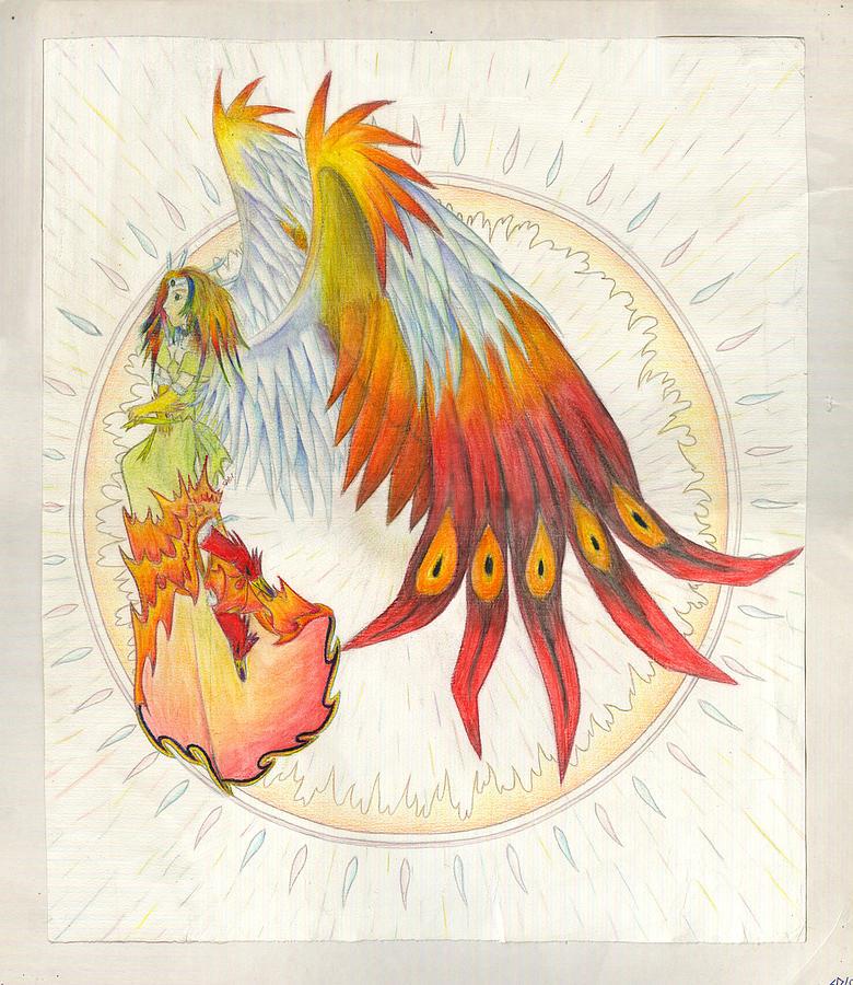 Angel Phoenix Painting