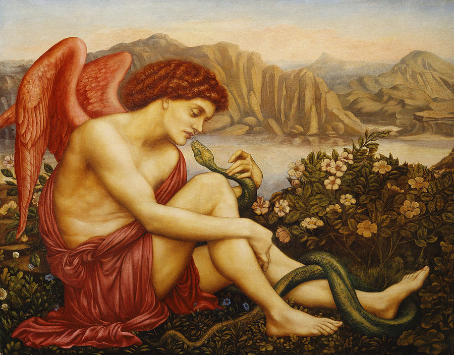 Angel With Serpent Painting