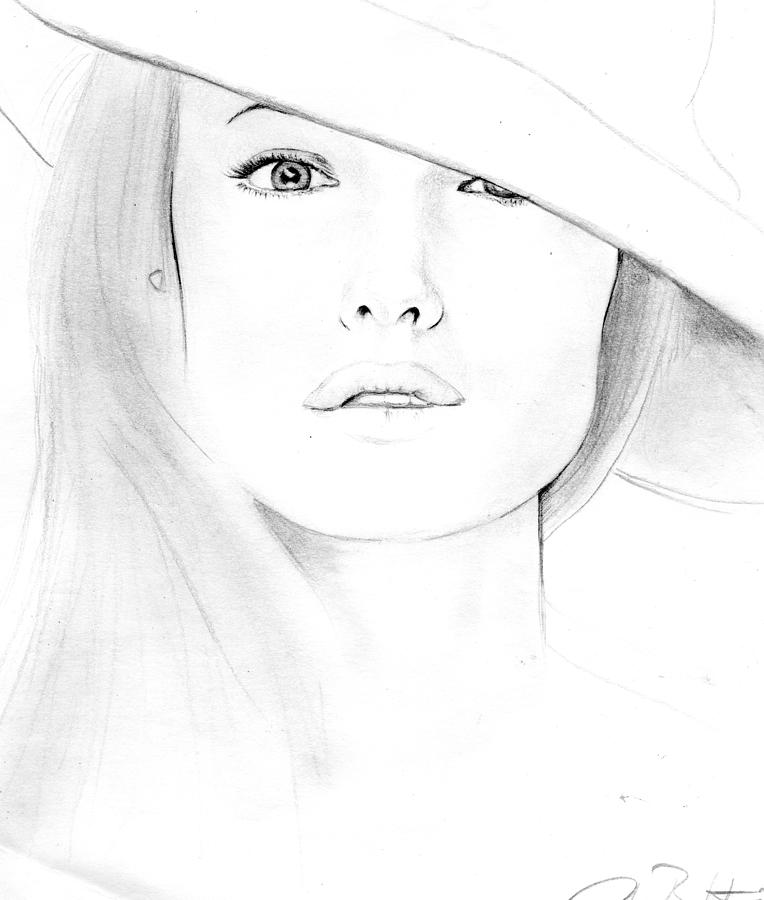 Angelina Joe Lee Drawing  - Angelina Joe Lee Fine Art Print