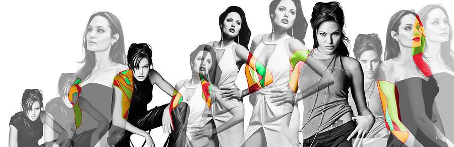 Angelina Jolie A La Warhol Painting