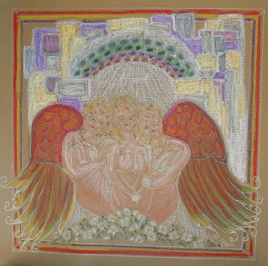 Angels At Heavens Gate Mixed Media