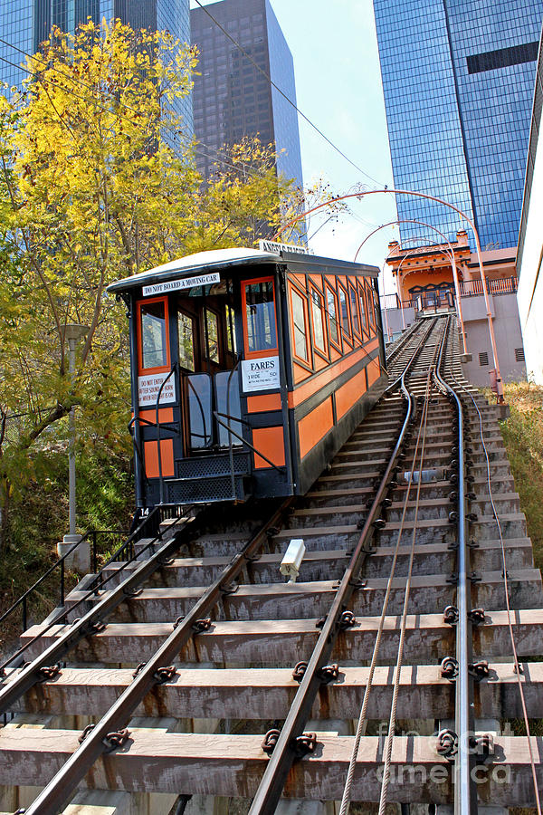 Angels Flight Railway Photograph  - Angels Flight Railway Fine Art Print