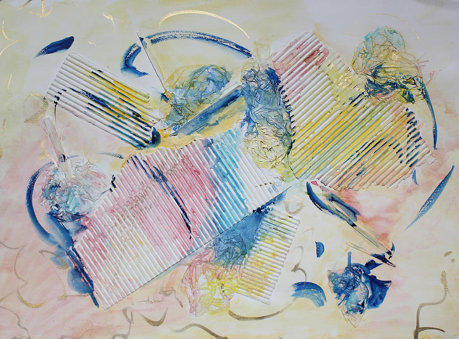 Abstract Painting Painting - Angels Lingering by Asha Carolyn Young