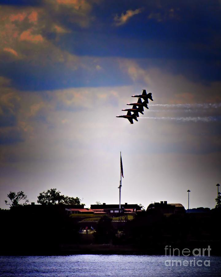 Airplanes Photograph - Angels Over Ft. Mchenry 2 by Robert McCubbin