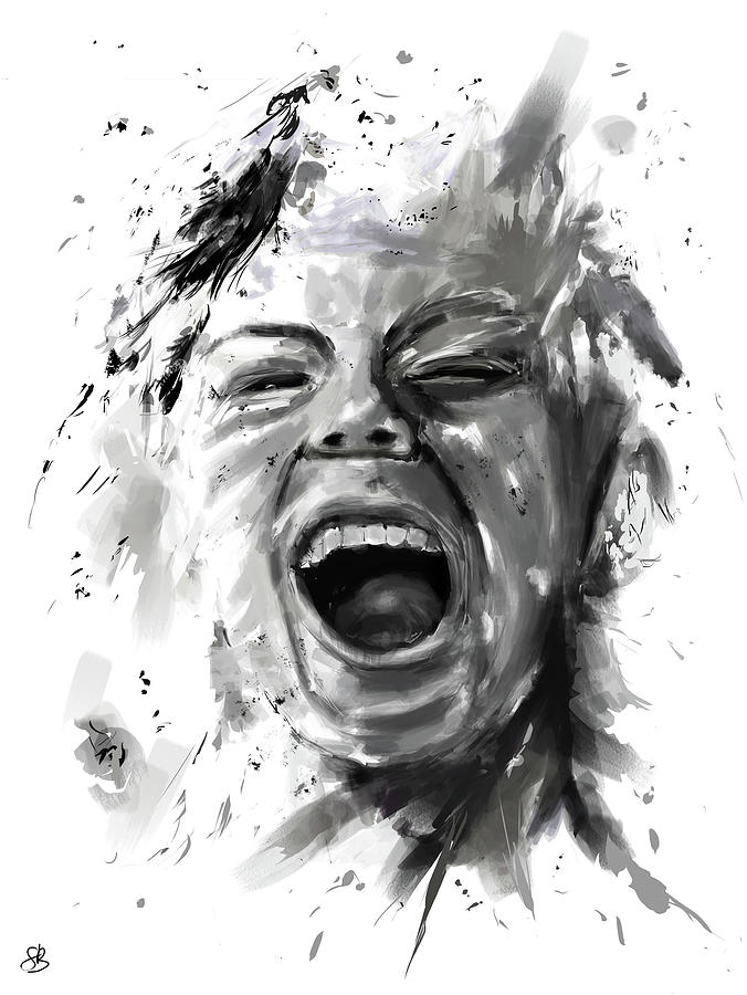 Anger Digital Art  - Anger Fine Art Print