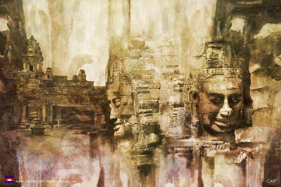 Combodia Art Painting - Angkor by Catf