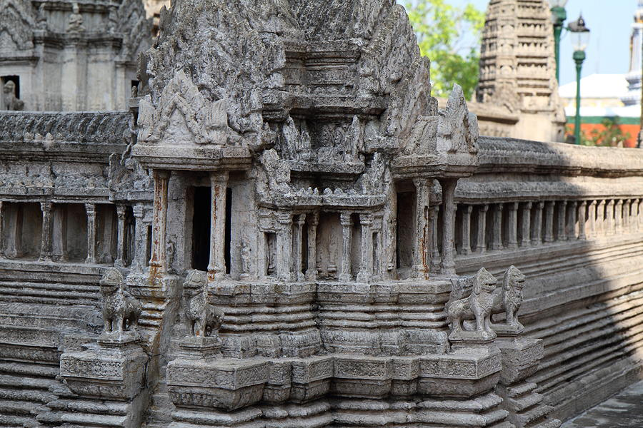 Angkor Wat Model - Grand Palace In Bangkok Thailand - 01133 Photograph