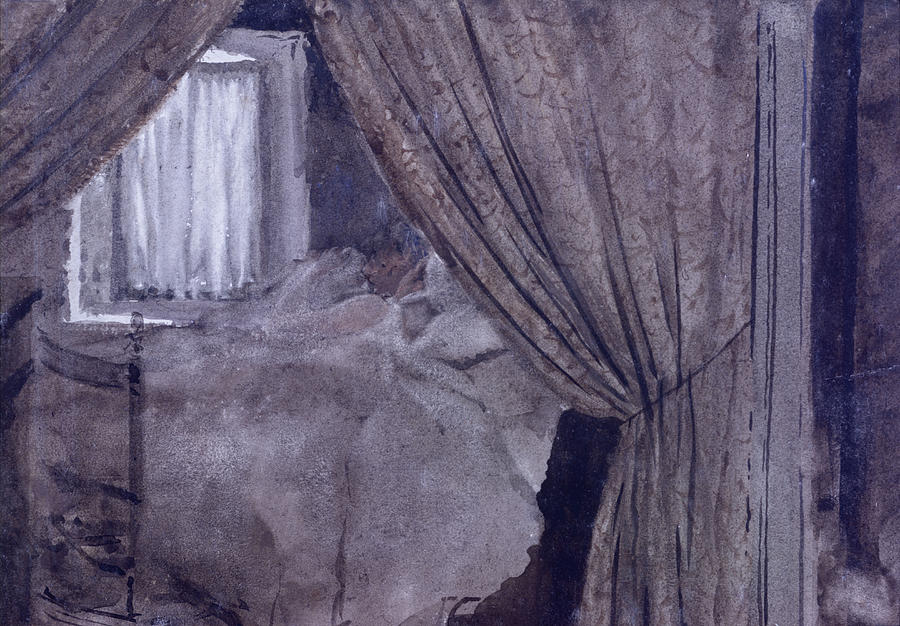 Angle Of Alcove , By Giuseppe De Drawing