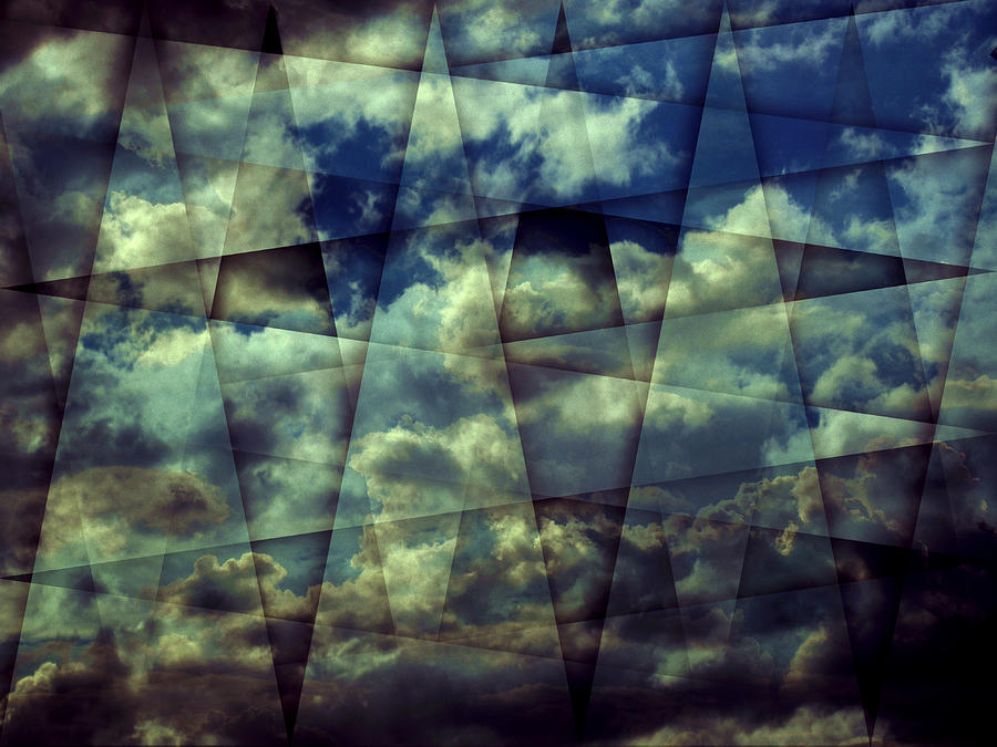 Abstract Photograph - Angled Clouds by Florin Birjoveanu