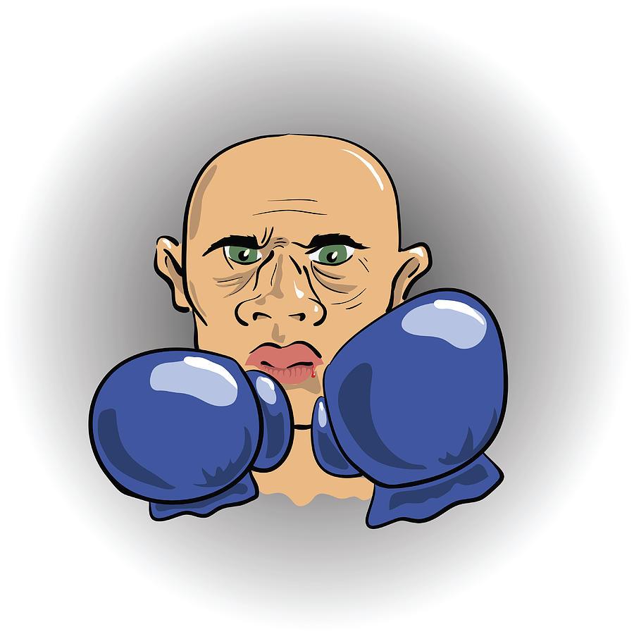 Angry Boxer Digital Art