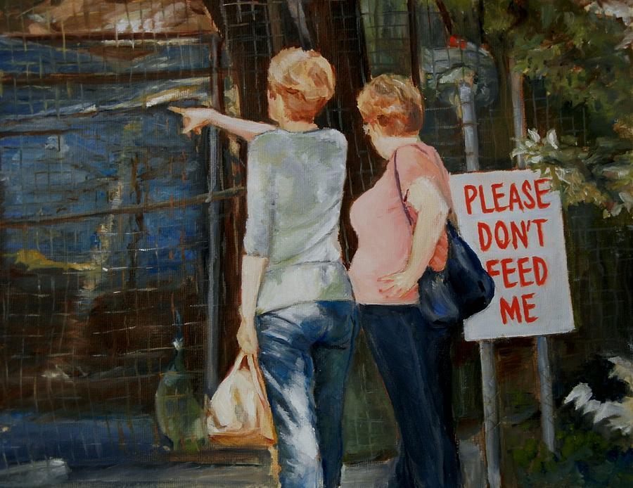 Figuative Painting - Animal Farm by George Kramer