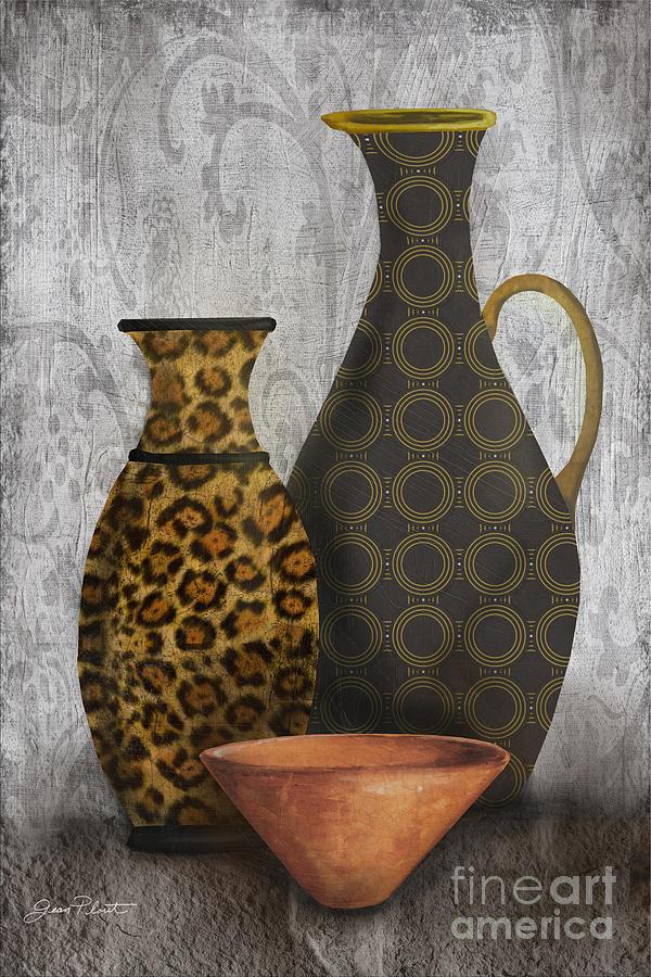 Animal Print Vase Still Life-b Painting