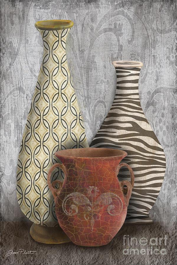 Animal Print Vase Still Life-c Painting