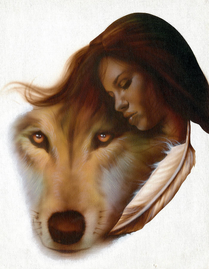 Native American Painting - Animism  by Luis  Navarro