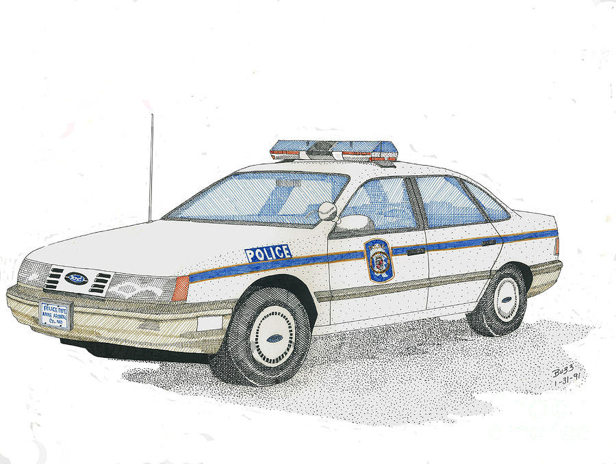 Anne Arundel County Police Drawing  - Anne Arundel County Police Fine Art Print