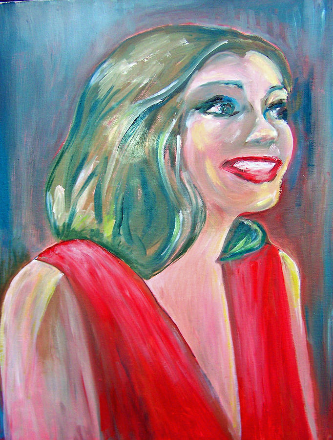 Anne Hathaway In Interview Painting  - Anne Hathaway In Interview Fine Art Print