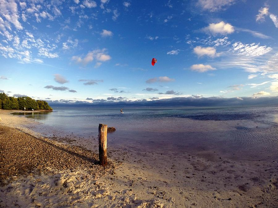 Anne's Beach Kite Surfer is a photograph by Erik Kaplan which was ...