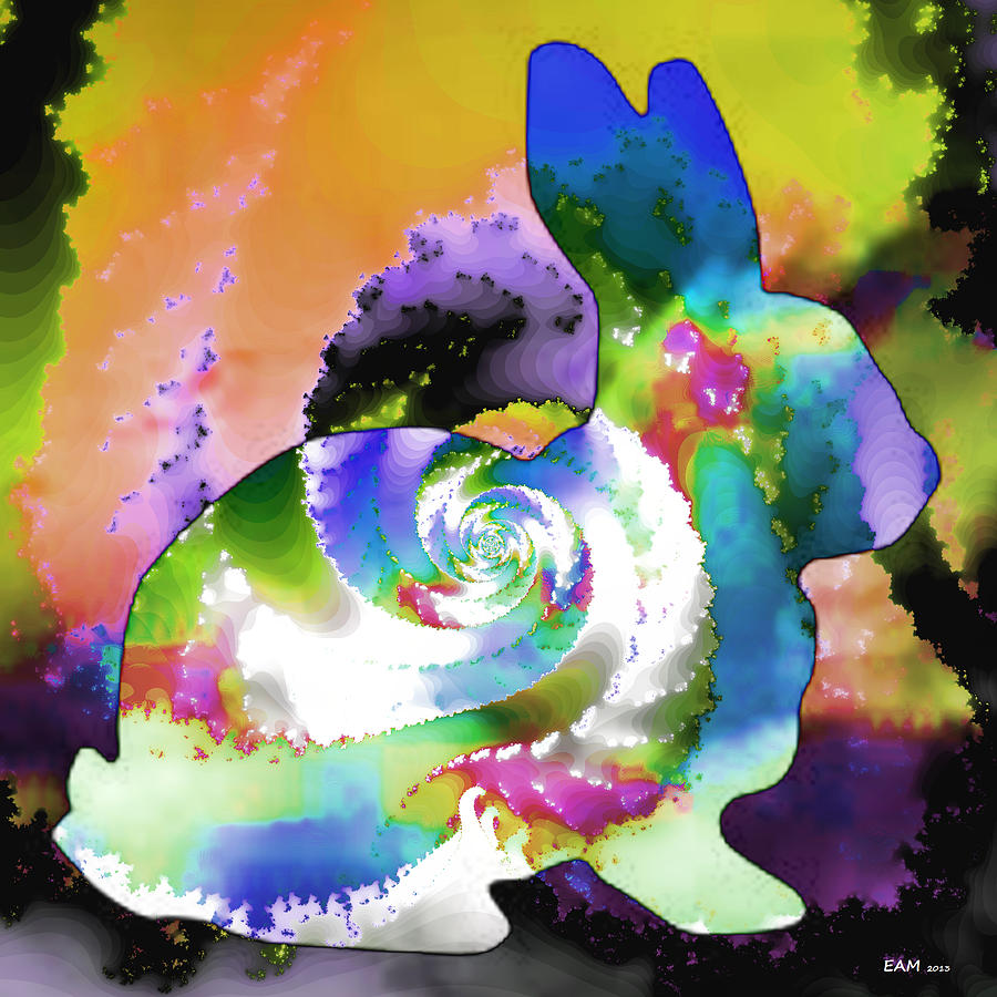 Another Rabbit Hole For Alice Digital Art