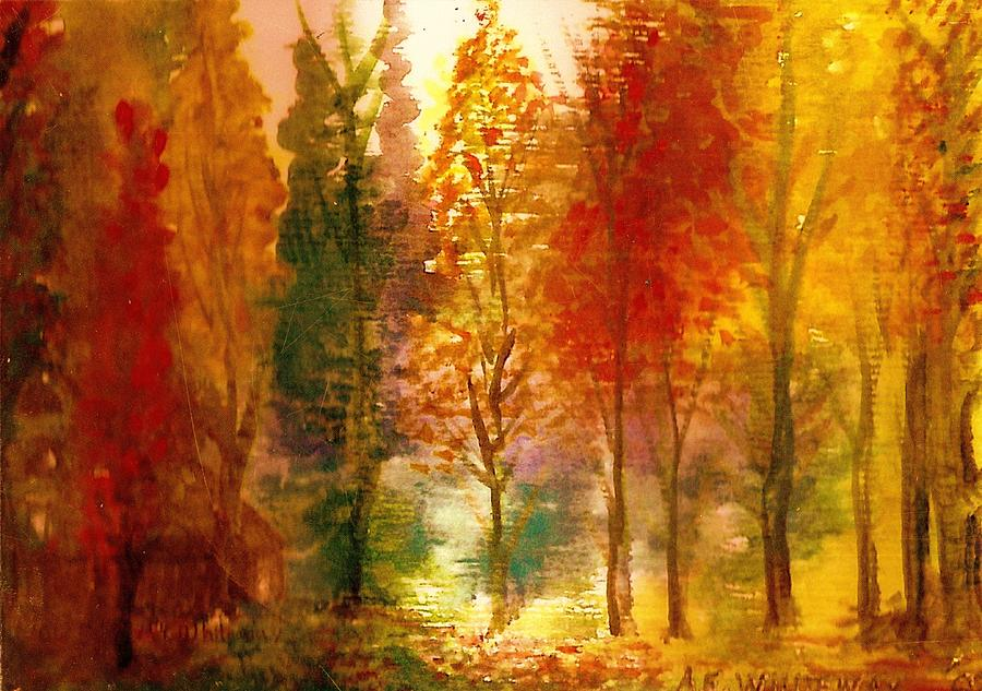 Another View Of Autumn Hideaway Painting  - Another View Of Autumn Hideaway Fine Art Print