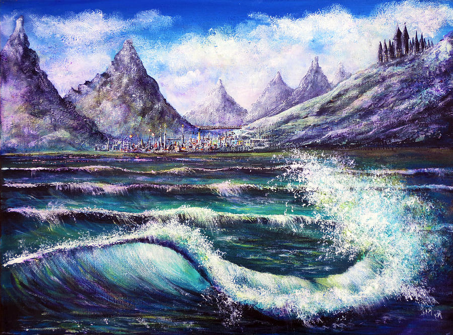 Fantasy Painting - Another World by Ann Marie Bone