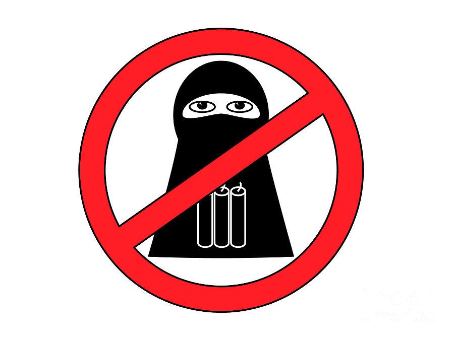Anti Terrorist Sign Digital Art