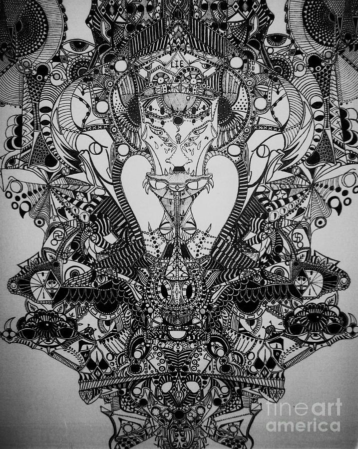 Michael Kulick Drawing - Antichrist by Michael Kulick
