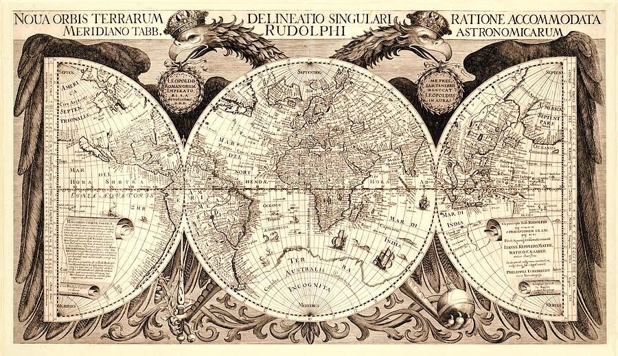 Antique Astronomical Map Digital Art