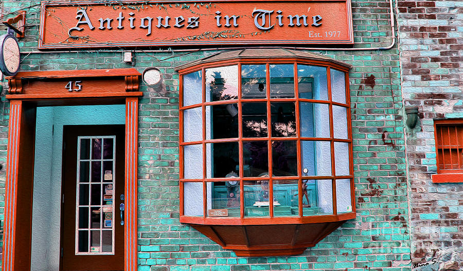 Clocks Photograph - Antique Clock Shop by Nina Silver