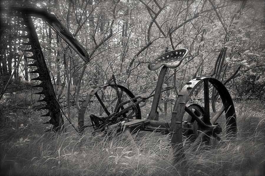 Farm Photograph - Antique Field Mower by Mary Lee Dereske