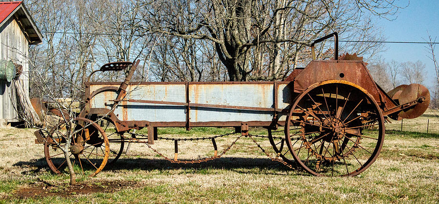 Antique Hay Bailer 2 Photograph  - Antique Hay Bailer 2 Fine Art Print