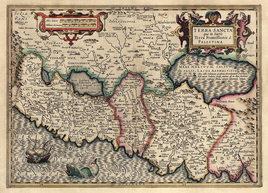 Israel Drawing - Antique Map Of The Holy Land By Guillaume Delisle - 1782 by Blue Monocle