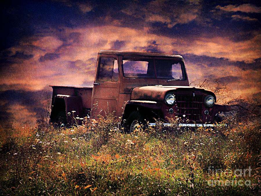 Abandoned Photograph - Antique Truck by Darren Fisher