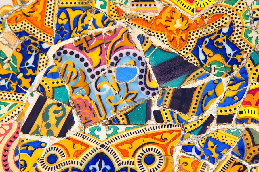 Antonio Gaudi Mosaic Work Photograph by Jaroslav Frank