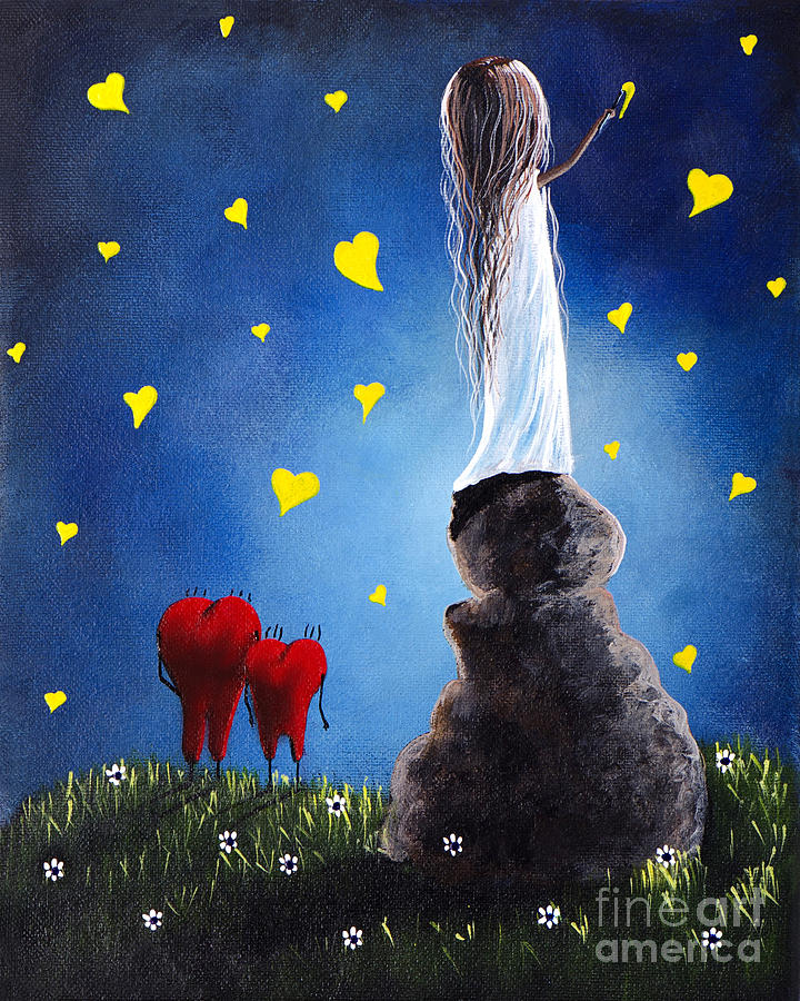 Anytime You Need A Friend By Shawna Erback Painting  - Anytime You Need A Friend By Shawna Erback Fine Art Print